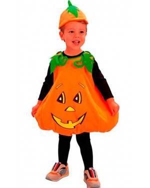 Costume Piccola Zucca Tg. 2 a 4 Anni