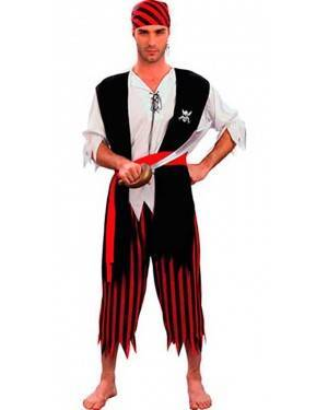 Costume Pirata Corsaro Adulto. Tg. Unica