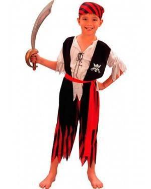 Costume Pirata-Corsaro Bambino Tg. 4 a 12 Anni