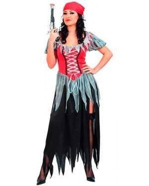 Costume Pirata Corsaro Donna. Adulto Tg. Unica