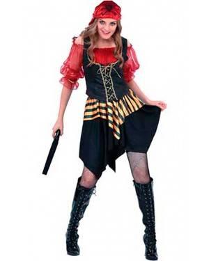 Costume Pirata Corsaro Donna Adulto Tg. Unica