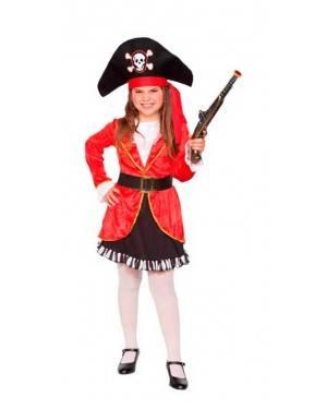 Costume Pirata Rossa Bambina