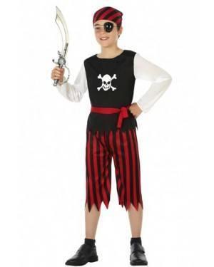 Costume Pirata Rosso Nero