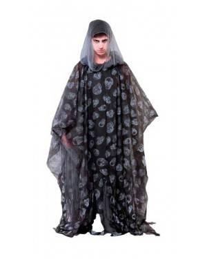 Costume Poncho Zombie Nero 175cm. Adulti