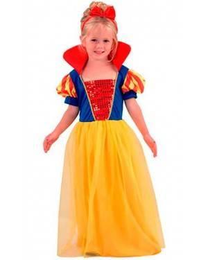 Costume Principessa Biancaneve Bambina Tg. 2-4 Anni