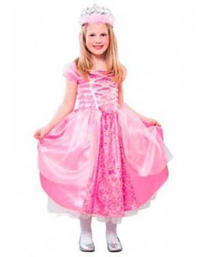 Costume Principessa Rosa. Bambina. Tg. 4 a 9 Anni