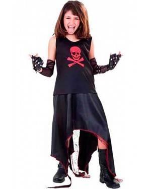 Costume Punk. Bambina Tg. 7 a 12 Anni
