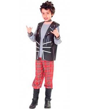 Costumi Punk. Bambino Tg. 7 a 12 Anni