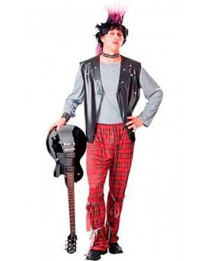 Costume Punk Uomo Adulto Tg. Unica