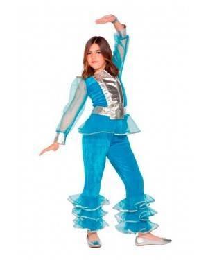 Costume Ragazza Disco Blu
