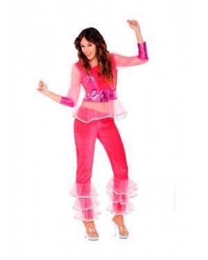 Costume Ragazza Disco Rosa