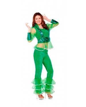 Costume Ragazza Disco Verde