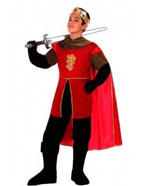 Costume Re Medievale Rosso