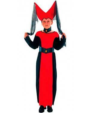 Costume Regina Medievale Bambina Tg. 7 a 12 Anni