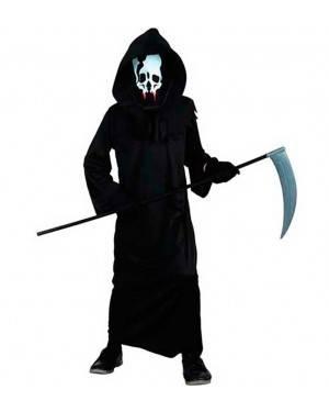 Costume Scheletro Halloween. Bambino Tg. 7 a 12 Anni
