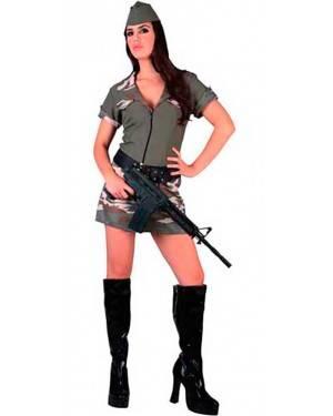Costume Sexy Militare Adulto Tg. Unica