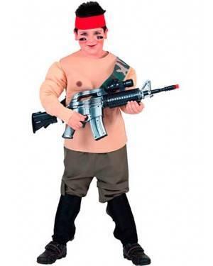 Costume Soldato. Bambino Tg. 7 a 12 Anni