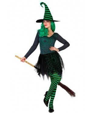 Costume Strega Ragnatela Verde