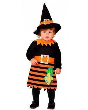 Costume Streghetta Arancione Bebè