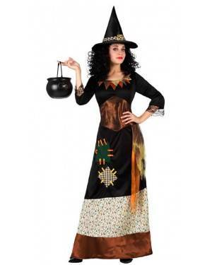 Costume Streghetta Patchwork Adulto