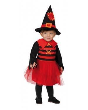 Costume Streguetta Baby Rosso-Nero