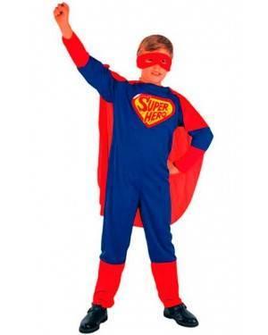 Costume Super Eroe. Bambino Tg. 4 A12 Anni