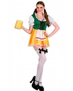 Costume Tirolese, Ragazza Birra Adulto Tg. Unica