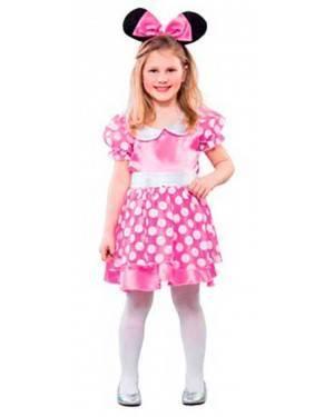 Costume Topolina Rosa. Talla 4 a 9 Años