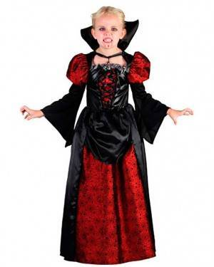 Costume Vampira Bambina Tg. 7 a 12 Anni