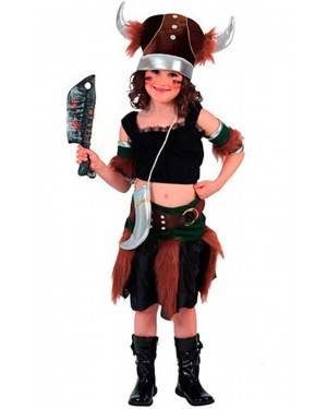 Costume Vichinga Bambina Tg. 7 a 12 Anni