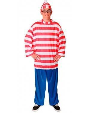 Costume Wally-Waldo Adulto Tg. Unica