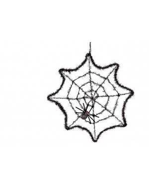 Decorazione Ragnatela con Ragni 50cm.