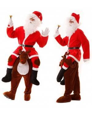 Costume Babbo Natale in spalla della Renna Carry Me per Carnevale | La Casa di Carnevale