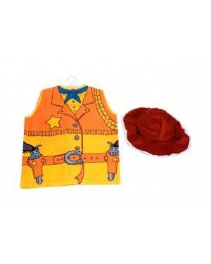 Gilet e Cappello Cowboy Bambino
