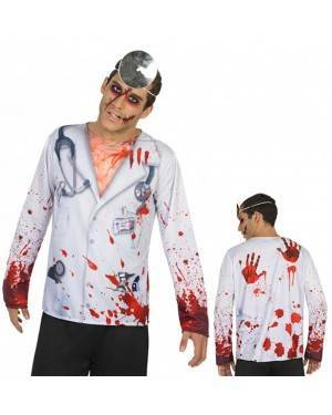 Maglietta Medico Zombie Taglia M-L per Carnevale | La Casa di Carnevale