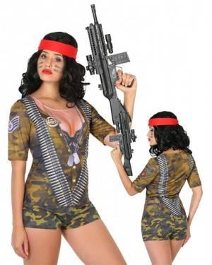 Maglietta Militare Donna per Carnevale | La Casa di Carnevale