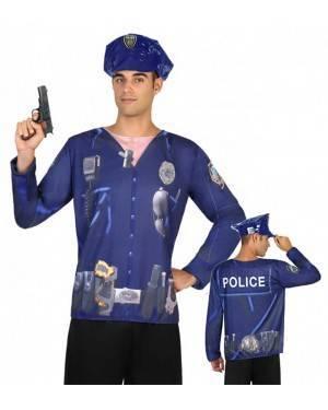 Maglietta Polizia Uomo M-L per Carnevale | La Casa di Carnevale
