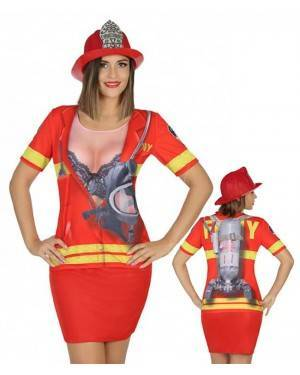 Maglietta Pompiere Donna per Carnevale   La Casa di Carnevale