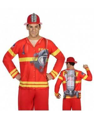 Maglietta Pompiere Uomo M-L per Carnevale | La Casa di Carnevale