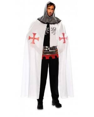 Mantello Medievale Bianco Adulto