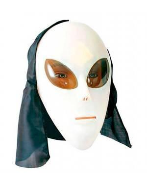 Maschera Alieno in Plastica fluorescente