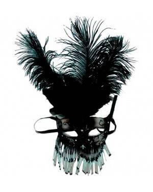 Maschera con Piume Nera