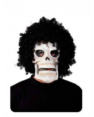 Maschera Cranio con Parrucca Afro