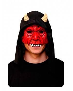 Maschera Demone con Cappuccio