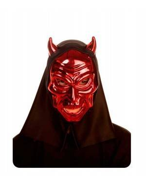 Maschera Demone Metallica 26X18X10cm