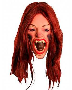 Maschera Donna Horror con la Bocca Aperta in Lattice