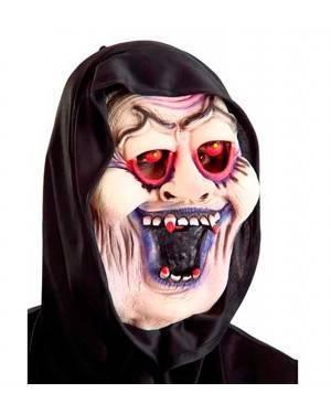 Maschera Dracula con Cappuccio in Lattice