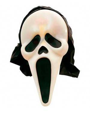 Maschera Fantasma/Scream fluorescente con Cappuccio