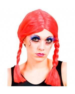 Parrucca Rosso con Trecce