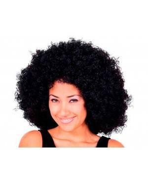 Parrucca Afro Nera Jumbo